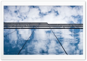 Cloudy Blue Sky, Glass Building HD Wide Wallpaper for 4K UHD Widescreen desktop & smartphone