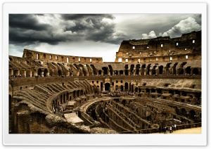 Cloudy Colosseum HD Wide Wallpaper for Widescreen