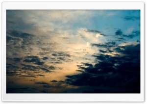 Cloudy Dark Sky HD Wide Wallpaper for Widescreen