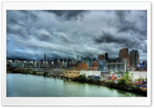 Cloudy Day In New York HD Wide Wallpaper for 4K UHD Widescreen desktop & smartphone