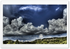 Cloudy Sky HDR HD Wide Wallpaper for 4K UHD Widescreen desktop & smartphone