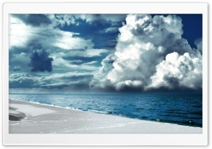 Cloudy Sky Seaside HD Wide Wallpaper for Widescreen