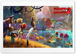 Cloudy with a Chance of Meatballs 2 HD Wide Wallpaper for Widescreen