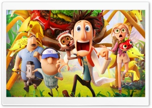 Cloudy with a Chance of Meatballs 2 Movie HD Wide Wallpaper for 4K UHD Widescreen desktop & smartphone