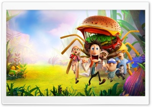 Cloudy With A Chance Of Meatballs 2 Spider Burger HD Wide Wallpaper for 4K UHD Widescreen desktop & smartphone