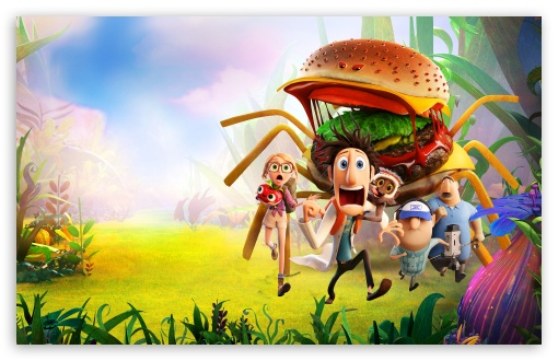 Cloudy With A Chance Of Meatballs 2 Spider Burger HD wallpaper for Wide 16:10 5:3 Widescreen WHXGA WQXGA WUXGA WXGA WGA ; HD 16:9 High Definition WQHD QWXGA 1080p 900p 720p QHD nHD ; Standard 4:3 5:4 3:2 Fullscreen UXGA XGA SVGA QSXGA SXGA DVGA HVGA HQVGA devices ( Apple PowerBook G4 iPhone 4 3G 3GS iPod Touch ) ; Tablet 1:1 ; iPad 1/2/Mini ; Mobile 4:3 5:3 3:2 16:9 5:4 - UXGA XGA SVGA WGA DVGA HVGA HQVGA devices ( Apple PowerBook G4 iPhone 4 3G 3GS iPod Touch ) WQHD QWXGA 1080p 900p 720p QHD nHD QSXGA SXGA ;