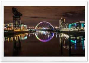 Clyde arch bridge, Glasgow, Scotland, UK HD Wide Wallpaper for 4K UHD Widescreen desktop & smartphone