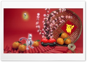 CNY Pokemon Ultra HD Wallpaper for 4K UHD Widescreen desktop, tablet & smartphone