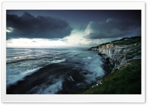 Coast, Stormy Weather HD Wide Wallpaper for 4K UHD Widescreen desktop & smartphone