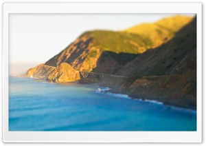 Coastal Road Tilt Shift HD Wide Wallpaper for Widescreen