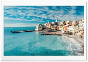 Coastal Town HD Wide Wallpaper for Widescreen