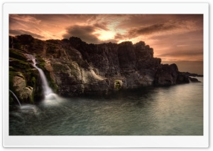 Coastal Waterfalls HD Wide Wallpaper for Widescreen