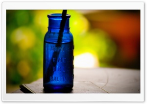 Cobalt Bottle HD Wide Wallpaper for Widescreen