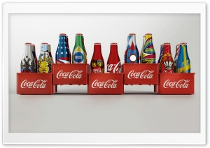 Coca-Cola Bottles Design HD Wide Wallpaper for 4K UHD Widescreen desktop & smartphone