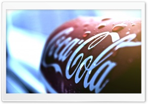 Coca Cola Can Macro HD Wide Wallpaper for Widescreen
