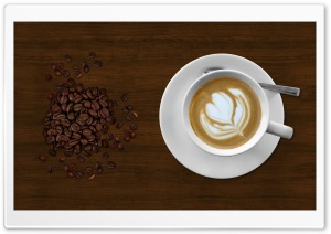 Coffee Heart HD Wide Wallpaper for Widescreen
