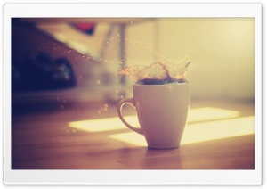 Coffee Splash HD Wide Wallpaper for Widescreen