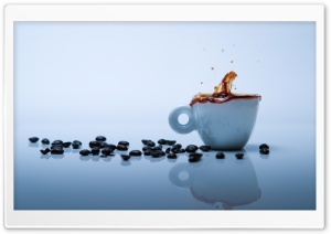 Coffee Splash HD Wide Wallpaper for 4K UHD Widescreen desktop & smartphone