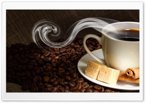 Coffee Steam Sugar HD Wide Wallpaper for Widescreen