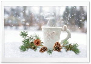 Coffee Steam, Winter HD Wide Wallpaper for Widescreen