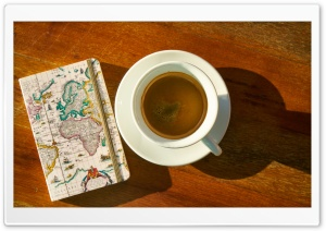 Coffee, Travel Plans HD Wide Wallpaper for Widescreen