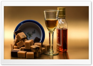 Cognac Glass HD Wide Wallpaper for Widescreen