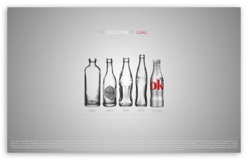Coke Evolution HD wallpaper for Wide 16:10 5:3 Widescreen WHXGA WQXGA WUXGA WXGA WGA ; HD 16:9 High Definition WQHD QWXGA 1080p 900p 720p QHD nHD ; Mobile 5:3 16:9 - WGA WQHD QWXGA 1080p 900p 720p QHD nHD ;