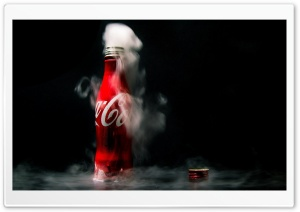 Cold Coca-Cola Coke Bottle Ultra HD Wallpaper for 4K UHD Widescreen desktop, tablet & smartphone