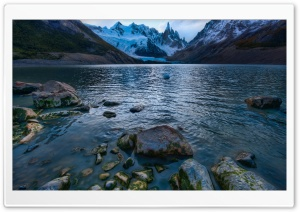 Cold Mountain Lake In Argentina HD Wide Wallpaper for 4K UHD Widescreen desktop & smartphone