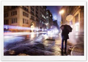 Cold Night in New York City HD Wide Wallpaper for Widescreen