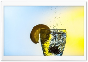 Cold Water Lemon Glass HD Wide Wallpaper for Widescreen