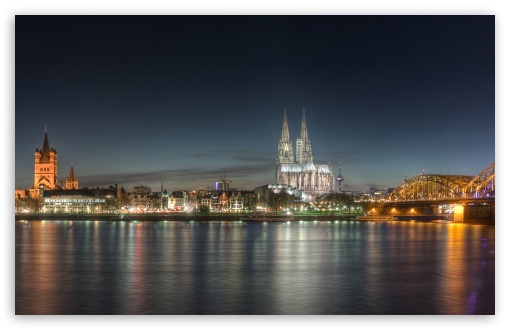 Cologne at Night HD wallpaper for Wide 16:10 5:3 Widescreen WHXGA WQXGA WUXGA WXGA WGA ; HD 16:9 High Definition WQHD QWXGA 1080p 900p 720p QHD nHD ; Standard 4:3 5:4 3:2 Fullscreen UXGA XGA SVGA QSXGA SXGA DVGA HVGA HQVGA devices ( Apple PowerBook G4 iPhone 4 3G 3GS iPod Touch ) ; Tablet 1:1 ; iPad 1/2/Mini ; Mobile 4:3 5:3 3:2 16:9 5:4 - UXGA XGA SVGA WGA DVGA HVGA HQVGA devices ( Apple PowerBook G4 iPhone 4 3G 3GS iPod Touch ) WQHD QWXGA 1080p 900p 720p QHD nHD QSXGA SXGA ;