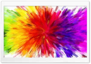 Color Burst Painting HD Wide Wallpaper for Widescreen