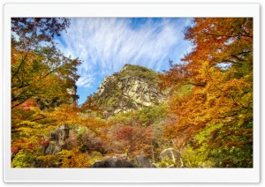 Color Explosion Rock Mountain HD Wide Wallpaper for Widescreen