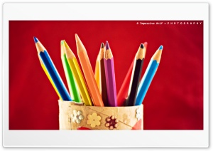 Color Pencil HD Wide Wallpaper for Widescreen