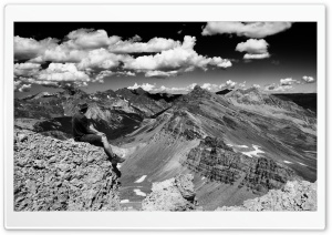 Colorado Pass Black and White HD Wide Wallpaper for Widescreen