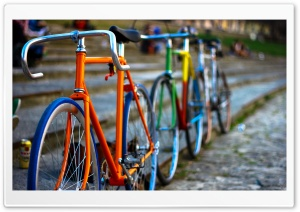 Colored Bikes HD Wide Wallpaper for Widescreen