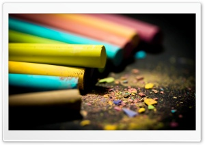 Colored Chalk HD Wide Wallpaper for Widescreen
