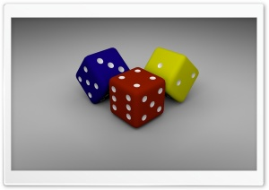 Colored Dice HD Wide Wallpaper for Widescreen