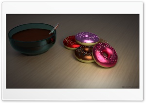 Colored Donuts HD Wide Wallpaper for Widescreen