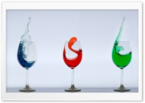 Colored Drinks HD Wide Wallpaper for Widescreen