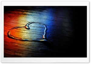 Colored Heart HD Wide Wallpaper for Widescreen