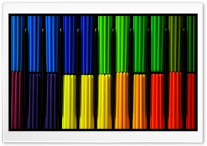 Colored Markers HD Wide Wallpaper for Widescreen