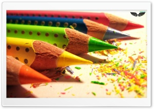 Colored Pencils HD Wide Wallpaper for Widescreen