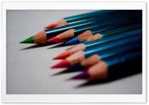 Colored Pencils Macro HD Wide Wallpaper for Widescreen