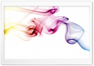 Colored Smoke White Background HD Wide Wallpaper for Widescreen