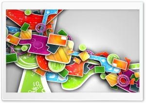 Colorful Abstract 3D Art HD Wide Wallpaper for Widescreen