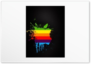 Colorful Apple Splash HD Wide Wallpaper for Widescreen