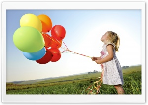 Colorful Balloons HD Wide Wallpaper for Widescreen