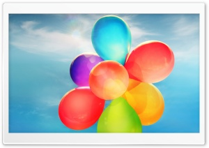 Colorful Balloons in the Sky Ultra HD Wallpaper for 4K UHD Widescreen desktop, tablet & smartphone